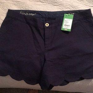 BNWT Lilly Callahan Shorts size 10 Navy